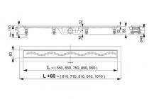 Душевой трап ALCAPLAST APZ10-550M