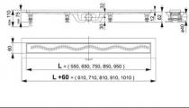 Душевой трап ALCAPLAST APZ8-850M