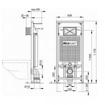 Инсталляция ALCAPLAST комплект 5 в 1 с кнопкой хром