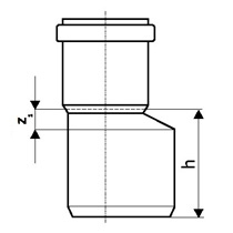 Редукция канализационная. Переход кан. ПП 50x32 мм